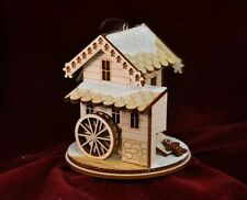 GINGER COTTAGES GINGER GRIST MILL GINGERBREAD CHRISTMAS ORNAMENT MADE IN USA