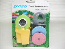 DYMO 1880 Embossing Label maker 3 word dishes + 1 Black Label Refill Pack
