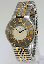 Cartier Must 21 Gold and Stainless Steel 31mm Ladies Midsize Quartz Watch