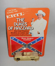 DUKES OF HAZZARD: BOSS HOGG'S CADILLAC 1/64 ERTL 1981 MOC SEALED