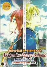 DVD Akagami no Shirayukihime Season-1 & season 2 (1-24-end)