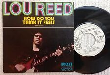 "LOU REED How Do You Think It Feels Como Piensas 1973 Spanish 7"" Vinyl Single"