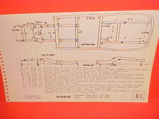 1950 1951 1952 1953 HUDSON PACEMAKER SUPER WASP HOLLYWOOD FRAME DIMENSION CHART