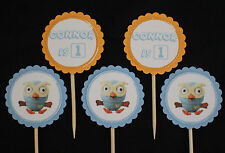 Giggle and Hoot 'Hoot' personalised 12 pack cupcake toppers picks