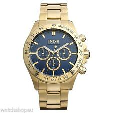 NEW HUGO BOSS 1513340 MENS GOLD CHRONOGRAPH WATCH - 2 YEAR WARRANTY