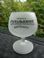 Frosted Liquor Shot Drink Tulip Stem Glass ~ CAZADORES Reposado Tequila ~ MEXICO