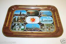 New York City TWIN TOWERS Vintage Metal EXPO 1970s The Big Apple Metal Tray