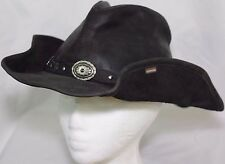 Stetson Leather Cowboy Hat Roxbury Black Distressed Western Mens Small