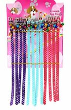 24 x PET DOG CAT COLLARS ADJUSTABLE WITH BELLS DIFFERENT STYLES WHOLESALE