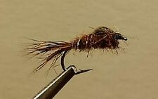 1 Dozen - Brown Hare's Ear - Wet Nymph Fly - Trout
