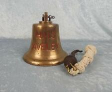 HMS Aveley Ley Class Mine Hunter Small Bronze Ships Bell 1953