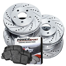 Full Kit Drilled Slotted Brake Rotors and Ceramic Pads 1983-1986 Porsche 944