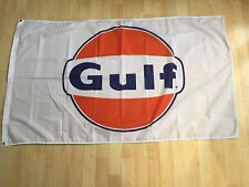 Gulf Racing Gasoline Flag Oil Orange Banner 3 x 5 Wall Deco Garage Free Shipping