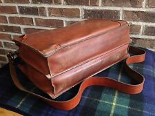 VINTAGE 1970's DOUBLE GUSSET SADDLE BASEBALL GLOVE LEATHER BRIEFCASE BAG R$895