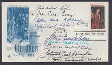 12 diff Cardinals, Krol, Cody, Dearden, Cushing et al, signed Christmas FDC