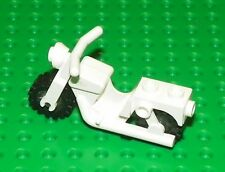 LEGO - Minifig Vehicle, Old Motorcycle with Wheels - White
