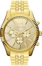 Michael Kors Gent's Lexington Chronograph Gold Tone Designer Watch MK8281
