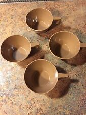 Vintage Texas Ware coffee cups melamine melmac lot of 4 Excellent Condition