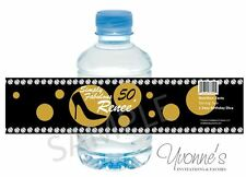 40th, 50th, 60th Birthday Diva Water Bottle Wrappers - Birthday Party Favors