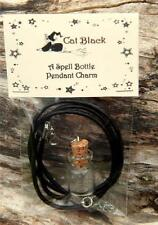 Little Empty Glass Spell Bottle Pendant Potion Charm, Herbs Ritual, Wiccan Pagan