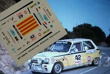 "DECAL CALCA 1/43 RENAULT 5 COPA ""RED REN. CAT."" J.M. BARDOLET R. MONTSENY 1985"