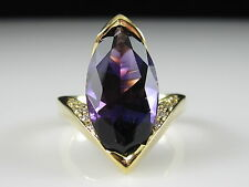 Amethyst and Diamond Ring 18K Yellow Gold Fine Jewelry Appraisal $4000