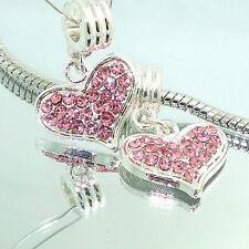Fashion 2PCS  Silver   Spacer European Charm  BeadS Fit Necklace Bracelet ST11