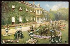 1910 Tuck Famous Old Gardens flower beds Compton Place Eastbourne UK postcard