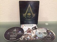 ps3 ASSASSINS CREED IV 4 Black Flag Skull STEELBOOK Edition Playstation