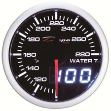 52mm Depo Racing Digital water temperature gauge White Red Smoked WA5237LED