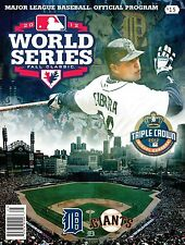 10 COUNT LOT 2012 WORLD SERIES OFFICIAL PROGRAM TIGERS GIANTS MIGUEL CABRERA