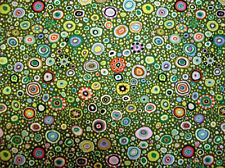 Kaffe Fassett ROMAN GLASS LEAFY Green Gp01 Quilt Fabric by the Quarter Yard FQ