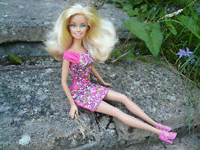 Blonde Barbie Doll & Pink Dress ~ Beautiful Hair ~ Bend Knees ~ GC