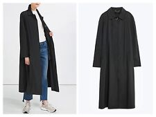 ZARA WOMAN GREY LONG TRENCH COAT SIZE XS - REF.2753/040