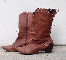 Joseph Griffin pointy toe lace up western Collect Idaho brown boot women retail