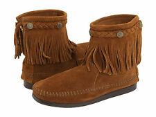 Minnetonka Hi-Top Back Zip Boot Brown 6.5