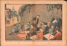 school Ecole Dessins Plein Air  Butte Montmartre Paris France 1933 ILLUSTRATION