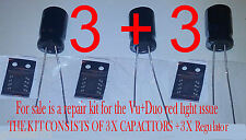 Vu Duo Red Light fix repair Regulator x3 + Capacitor x3 C807 VU+ Z1021AI