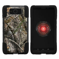 For Motorola Droid Maxx XT1080 Hybrid Hard Stand case Cover Tree Bark Camo