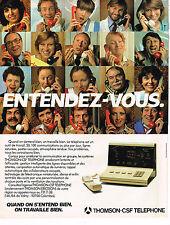 PUBLICITE ADVERTISING 045  1979  THOMSON-CSF  téléphone