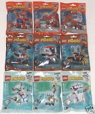 Lego MIXELS Series 8 COMPLETE set of 9 sealed MCFD PYRRATZ MEDIX blue red brown