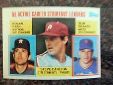 1984 TOPPS BASEBALL #707 NL ACTIVE CAREER SO LDRS RYAN,CARLTON,SEAVER-NM  (B)