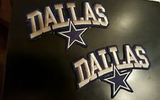 "(2) Dallas Cowboys NFL vintage CLASSIC embroidered iron on patch Lot  4""x 2.5"""