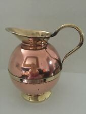 DECORATIVE LOVELY VINTAGE COPPER JUG AND BRASS HANDLE
