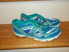 Brooks Pure Flow Teal and Aqua Blue Women's Running Sneakers Size 11 GUC