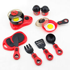 Boy Girl Play House Toy Cook Food Kitchen Utensils Pan Pots Dishes Cookware Set