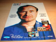 PHIL COLLINS - TDK!!!!!!!!!!!!!!!!1!FRENCH PRESS ADVERT