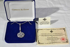 Camrose & Kross Jacqueline Kennedy Collection Crystal Snowflake Necklace