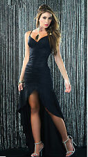 1PC New Black Women Sexy Backless Sleeveless Cocktail Party Long Dress Size L