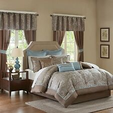 Madison Park Essentials MPE10-223 Jacquard 24 Piece Comforter Set NEW